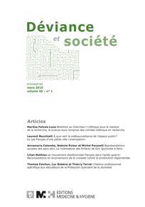 Déviance et Société 2016/1