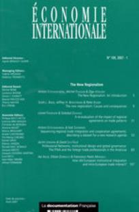 Economie internationale 2007/1