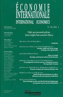 Economie internationale 2009/4