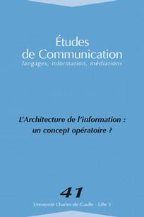 Études de communication 2013/2