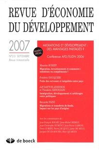 Revue d'économie du développement 2007/2
