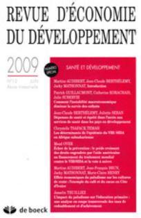 Revue d'économie du développement 2009/1