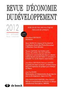 Revue d'économie du développement 2012/3