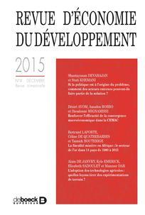 Revue d'économie du développement