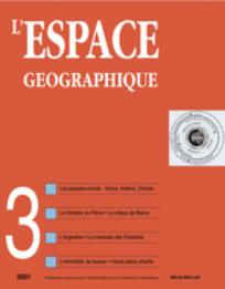 L'Espace géographique 2001/3