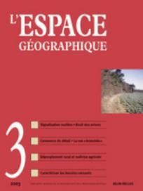 L'Espace géographique 2003/3