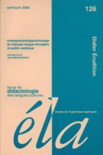 Ela. Études de linguistique appliquée 2002/2