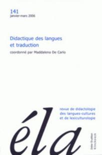 Ela. Études de linguistique appliquée 2006/1
