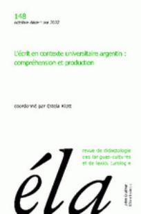 Ela. Études de linguistique appliquée 2007/4