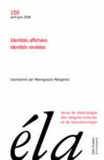 Ela. Études de linguistique appliquée 2008/2