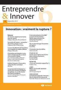 Entreprendre & Innover 2013/2