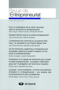 On The Temporary Organizing Of Entrepreneurial Processes Applying A Project Metaphor To Study Entrepreneurship
