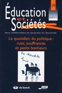 Education et sociétés 2007/1