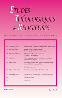 Études théologiques et religieuses 2013/3