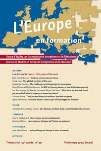 L'Europe en Formation 2009/1