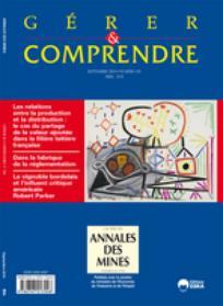 Annales des Mines - Gérer et comprendre 2010/3