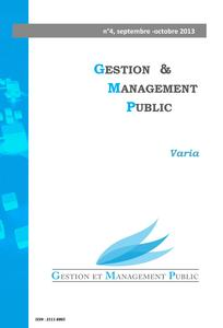 Gestion et management public 2013/2