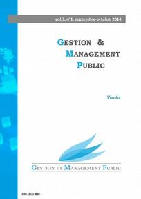 Gestion et management public 2014/3
