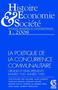 Histoire, économie & société 2008/1