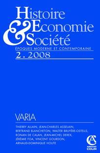 Histoire, économie & société 2008/2