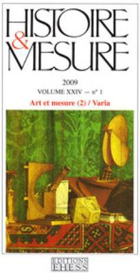 Histoire & mesure 2009/2