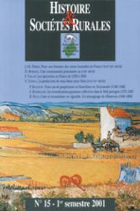 Histoire & Sociétés Rurales 2001/1