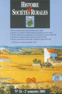 Histoire & Sociétés Rurales 2001/2