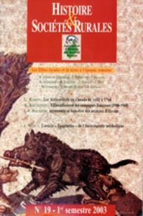 Histoire & Sociétés Rurales 2003/1