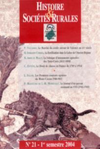 Histoire & Sociétés Rurales 2004/1