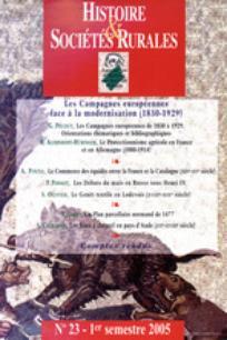 Histoire & Sociétés Rurales 2005/1