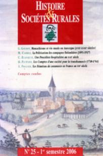 Histoire & Sociétés Rurales 2006/1