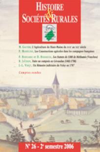 Histoire & Sociétés Rurales 2006/2