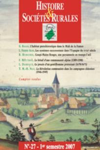 Histoire & Sociétés Rurales 2007/1