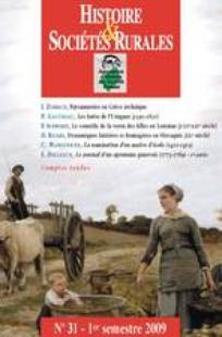 Histoire & Sociétés Rurales 2009/1