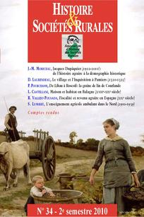 Histoire & Sociétés Rurales 2010/2