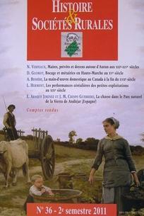 Histoire & Sociétés Rurales 2011/2