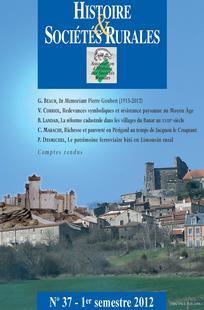 Histoire & Sociétés Rurales 2012/1