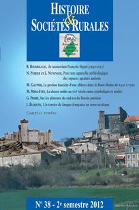 Histoire & Sociétés Rurales 2012/2