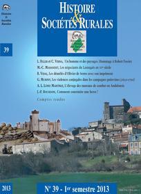 Histoire & Sociétés Rurales 2013/1