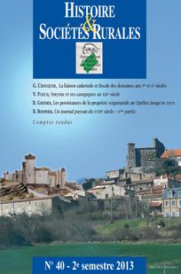 Histoire & Sociétés Rurales 2013/2