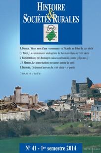 Histoire & Sociétés Rurales 2014/1