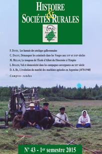 Histoire & Sociétés Rurales 2015/1