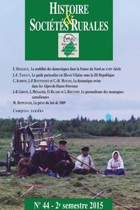 Histoire & Sociétés Rurales 2015/2