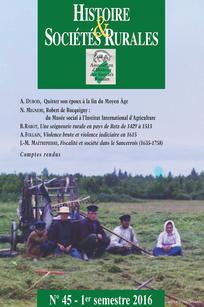 Histoire & Sociétés Rurales 2016/1