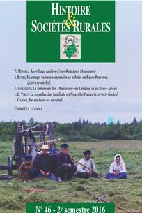 Histoire & Sociétés Rurales 2016/2
