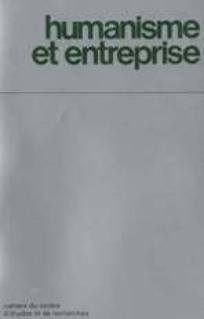 Humanisme et Entreprise 2013/1