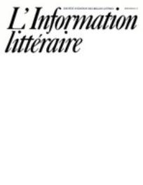 L'information littéraire 2001/2