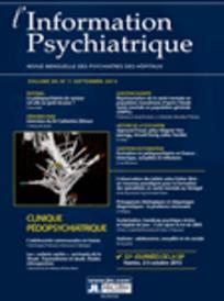 L'information psychiatrique 2013/7