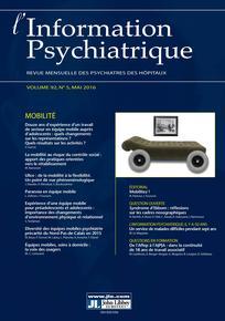 L'information psychiatrique 2016/5