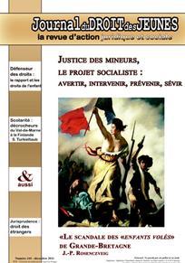 Journal du droit des jeunes 2011/10
